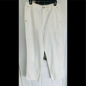 Rag & Bone Nautical Style Frayed Hem Cotton Pants